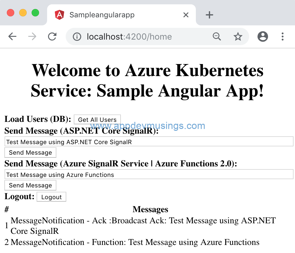 Add real-time web functionality to Angular application using