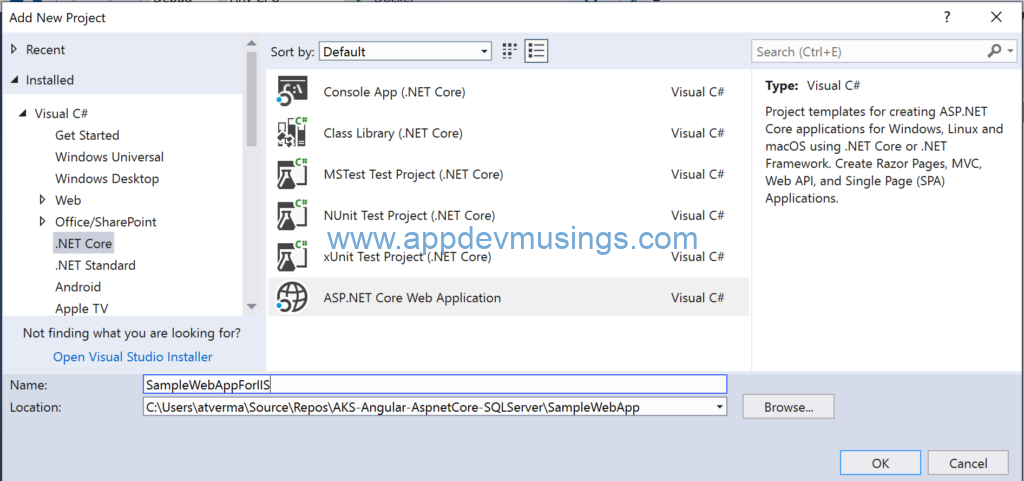 Host your ASP NET Core 2 2 Web App with IIS (in-process and