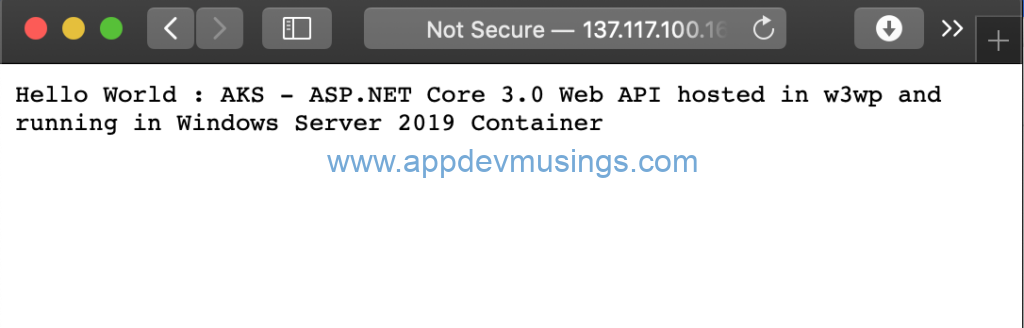 Azure Kubernetes Service: Host ASP NET Core 3 0 app in